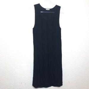 Club Monaco Black Ribbed Sheath Body Con Dress